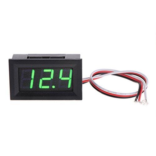 Qiulip Mini voltmetro tester digitale tensione batteria DC 0-40 V rosso/blu/verde auto