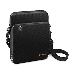 FINPAC 11 Zoll Tablet Tasche Schutzhülle für iPad Pro 11, iPad 10.2 2019, iPad Air 3 10.5, iPad Pro 10.5, iPad 9.7, Galaxy Tab 10.1 Laptop Hülle Notebook Handtasche Tragetasche Schultergurt, Schwarz