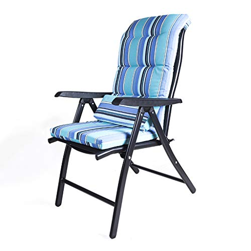 HUYP Chaise De Plage Rayée Chaise De Salon en Plein Air Chaise De Bureau Pause Déjeuner (Couleur : Bleu)