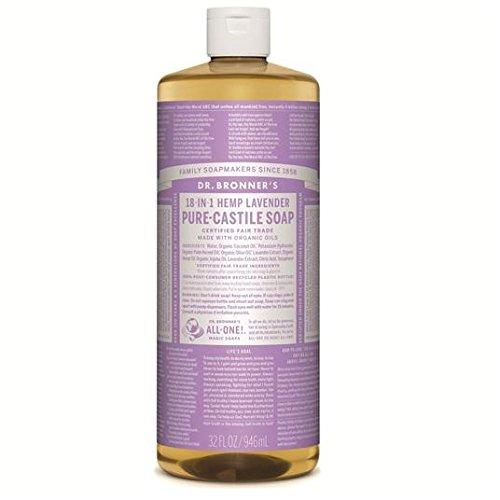 Dr. Bronner's Magic Soap Flüssigseife Lavendel, Naturseife - 945 ml - Dr. Bronners Seife Lavendel