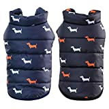 Handfly Dog Coats for Small Dogs Puppy Winter Coats Chihuahua Clothes Small Dog Jackets,S M L XL XXL (S, Dark blue)