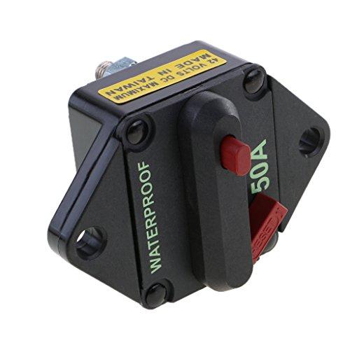 Preisvergleich Produktbild MagiDeal 50A-150A Automatische Sicherung Schalter für Auto KFZ LKW Boot 12V-24V - 50A