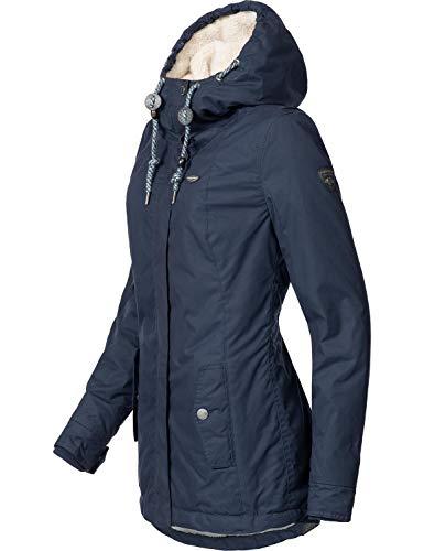 Ragwear Damen Winterparka Winterjacke Monade Navy018 Gr. S - 3
