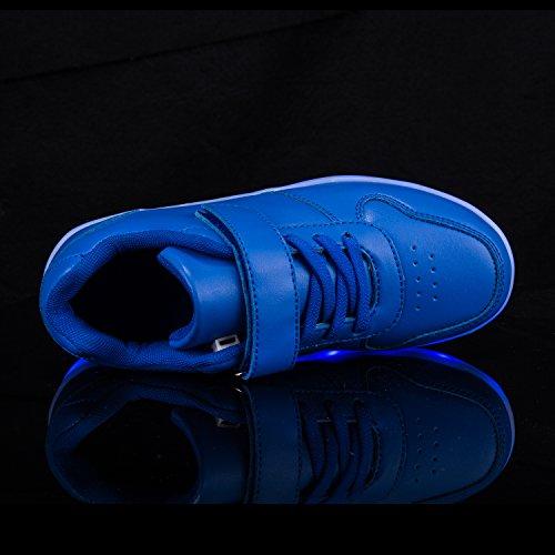 Menina Flarut Piscando Tênis Crianças Azul Jovem Sapatos De Brilhante Usb Levou Carregamento Eqa6qTx