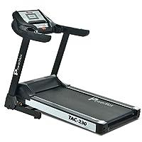 Powermax Fitness Unisex Adult TAC-230 2HP AC Motor (4HP Peak) Motorized Treadmill For Home - Black, Medium