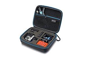 Supremery Étui pour GoPro Hero 4/3+/3/2/1–Étui pour appareil photo, boîtier, LCD, batterie, carte SD et accessoires (Taille?: XL, compartiment Ustensiles avec fermeture éclair et sangle bandoulière)