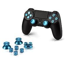 OKCS® Sony Playstation 4 Dualshock 4 Controller Aluminium Buttons pezzo di ricambio Thumbsticks tasto D-Pad PS4 in blu