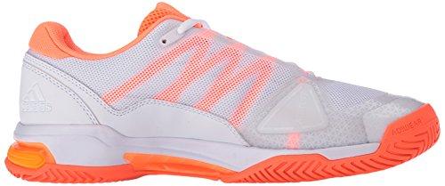 Adidas Barricade Club Scarpe da tennis, Abbigliamento solare Calce / ngtmet / nero, 6,5 M Us White/Neon Orange/Glow Orange