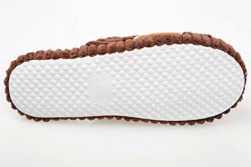 GIBRA® Herren Pantoffeln mit weißer Sohle, braun, Gr. 41-46 Braun