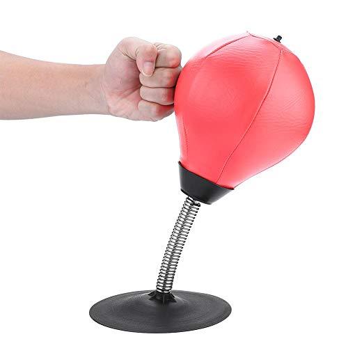 Alomejor Boxsack Stress Angst Relief Freistehende Desktop-Geschwindigkeit Punching Ball für Erwachsene und Kinder(Rot) -