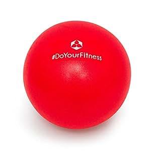 #DoYourFitness Mini-balle de pilâtes »Bola«/Idéale pour soulager les tensions et les douleurs musculaires/Dimensions: 18 cm à 33 cm de diamètre/taille: 28 cm couleur: rouge