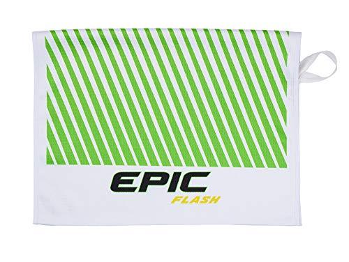 Callaway Serviette de Golf pour Homme Epic Flash (30 x 30, Blanc/Vert/Noir), Taille Unique