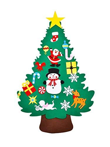 Albero di natale in feltro per bambini kit di artigianato natalizio in feltro 3d fai-da-te fatto a mano ornamento d'attaccatura della parete dell'albero di natale per i regali di natale decorazione