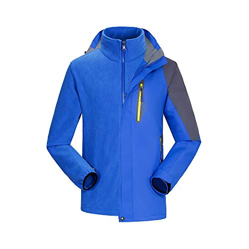 Alte Green Fleece-Skianzug, Outdoor-Jacke, DREI-In-Eins-Wasserdichtes Warmes Paar, Zweiteilige Farbe,XXXL Fleece Track Jacke Kinder