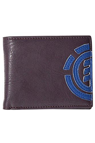Element Herren Daily Wallet Geldbörse, 1x7x9 cm brown purple