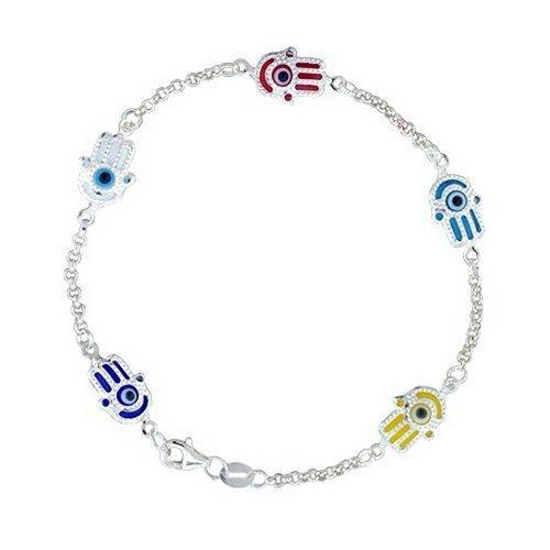 Bling Jewelry türkische Evil Eye Schmuck Sterling Silber Hamsa Bracelet (Gramm-türkisch)