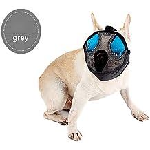 vivibear Bozal de malla para perros cortos con hebilla ajustable para perros de cara plana y