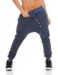 "57ff1fc433b5 Malito Pantaloni Boyfriend nella ""Maglia"" Design Harem Aladin Sbuffo  Pantaloni Pump Baggy Yoga 7398"