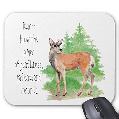 Mauspad mit seidenweicher Textiloberfl?che - Mouse Pad Paradise (antistatische Wirkung - perfekte Gleiteigenschaft PC / Computer Mousepad)-Tier Totem spirituelle Inspiration Ermutigung
