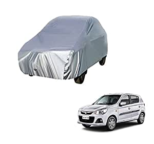 Lets Play classy Silver Matte Car Body Cover For Alto K10 2010-2014