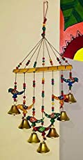 Wooden Multicoloured Handpainted & Handmade Decorative Hanging -Wind Chimes Hanging Decorative Item Home Décor Pieces