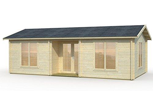 Palmako Ferienhaus Amber mit ISO-Verglasung - Anna 26,8+1,9 m²