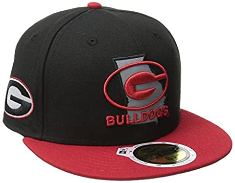 NCAA Georgia Bulldogs State Flective Redux 59FIFTY Fitted Cap, 6.875, Black