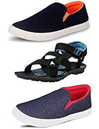 Tempo Men's Combo Pack of 2 Loafers & 1 Sandals