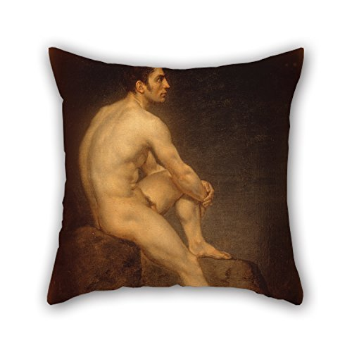 rongxincailiaoke kissenbezüge Oil Painting Manuel Ignacio Vázquez - Male Nude Pillow Cases, for Drawing Room,Club,Family,him,Dining Room,Home 18 X 18 Inches / 45 by 45 cm(2 Sides)