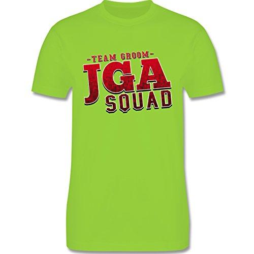 JGA Junggesellenabschied - JGA Squad Team Groom - Herren Premium T-Shirt Hellgrün