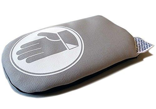 wristee No-Gel Handauflage, Handgelenkauflage ohne MausPad, Handballenauflage, ergonomisch, silbergrau