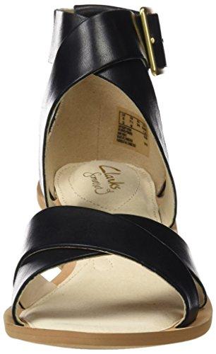 Clarks 261228724, Sandali Donna Nero (Black Leather)