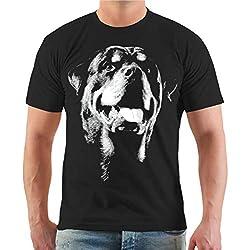 Männer und Herren T-Shirt Rottweiler BOSS