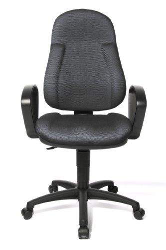 topstar-wellpoint-10-bequemer-buro-drehstuhl-mit-geformtem-polsterschaum-schwarz-grau