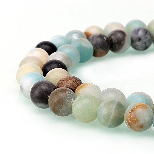 Wunderschöner natürlicher Drusen-Achatstein in Fuchsia, matte, runde, einzelne Perle zur Schmuckherstellung, Colorful Amazonite, 8 mm