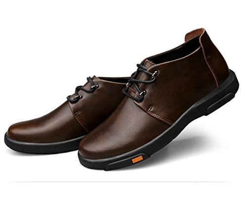 Autunno Alto Per Aiutare Scarpe Da Uomo Versione Coreana Moda Scarpe Inghilterra Scarpe Casual Brown