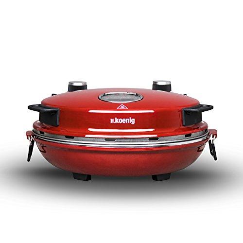 confronta il prezzo H.Koenig NAPL350 Forno per Pizza Napoletana, Temp max 350°, Piatto in ceramica diam 32 cm, Rosso