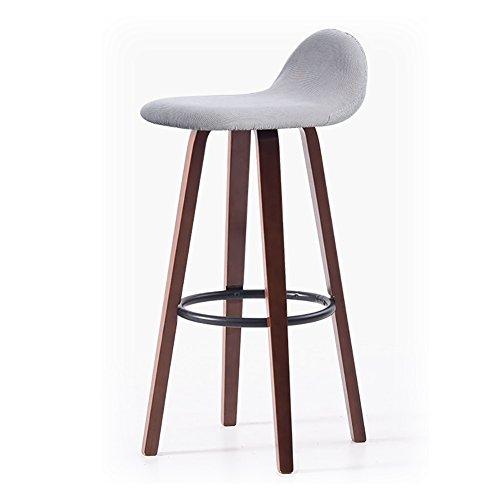 BTPDIAN Nordic Massivholz Esszimmerstuhl, Rücken Barhocker Stuhl Wohnzimmer Büro Fußhocker 33X33X69.5cm Bürostuhl (Farbe : 8)