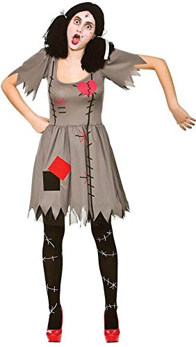 Fancy Dress Kostüm Doll China - Freaky Voodoo Doll - Adult Costume S (UK:10-12)