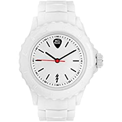 Ibiza Rocks Irock Unisex Quartz Watch with White Dial Analogue Display and White Plastic Strap 0.93.0504