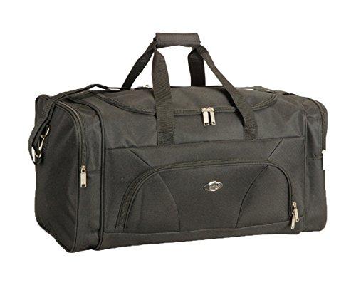 Extragroße, große, medium, kleine Reisetasch, Gepäck, Sporttasche, Wochenend-Reisetasche Gr. 51 cm SmallALL, schwarz