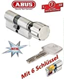 ABUS EC550 Profil-Knaufzylinder Länge Z40/K40mm mit 6 Schlüssel