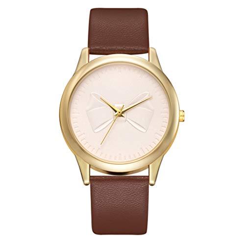 LSAltd 2019 Heißer Moderne Candy Farbe Bow Armbanduhr Temperament Klassische Leder Damenuhr Frauen Geschenk Quarzuhr.