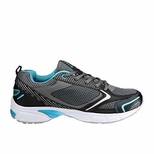 Brütting Fusion, Chaussures de Running Compétition Mixte Adulte Gris (Grau/schwarz/tuerkis)
