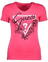 GUESS Jeans W83I29K6YW0 Camiseta con Las Mangas Cortas Mujer Rosa G586 XL