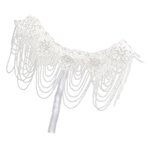 Collier d'Epaule Strass Cristal Brillant Dentelle Lace Boucle d'Oreille Bijoux de Mariée Mariage 2