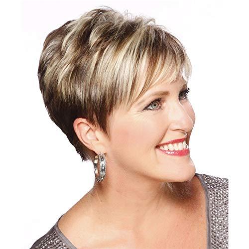 Fleurapance - Pelucas de pelo humano para mujer