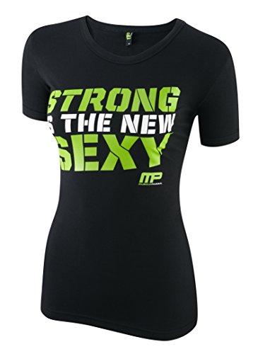 Muscle Pharm Damen mplts486bedrucktes T-Shirt Black/Lime Green
