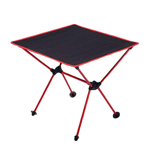 Bigood Mini Table Pliante Pique-Nique Camping BBQ Léger Oxford Durable Rouge