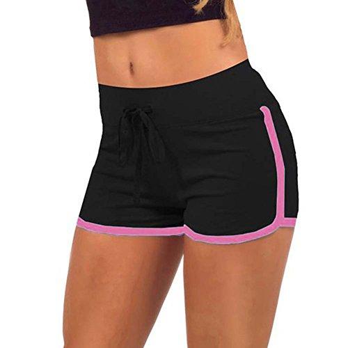 Yalatan Damen Shorts Sommer Sports Kurze Hosen Badeshorts Schwimm Running Yoga Hose (Damen-cord-hose)
